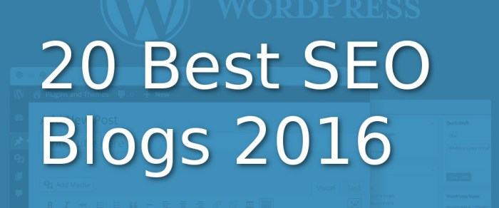 20 best seo blogs 2016