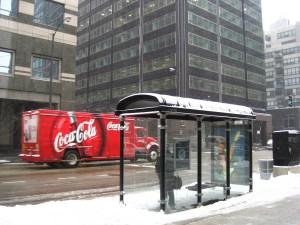 City bus stop