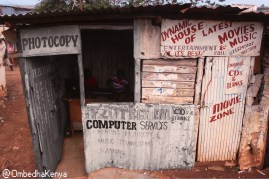 There is business competition in Kibera but mostly in Kibera where you cant walk three miters without seeing a similar business along the street.