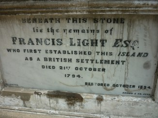 Remains of Francis Light