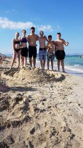 Zon, zee, strand, zandkasteel….