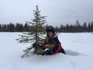 Met een toe-toe-toeter op de sneeuw scooter…