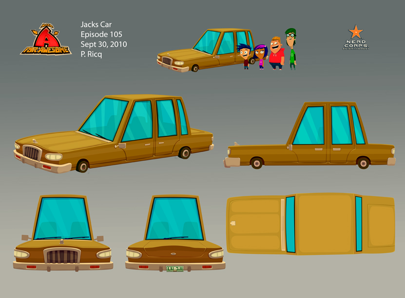 Jack's car - I really enjoyed working on this vehicle.