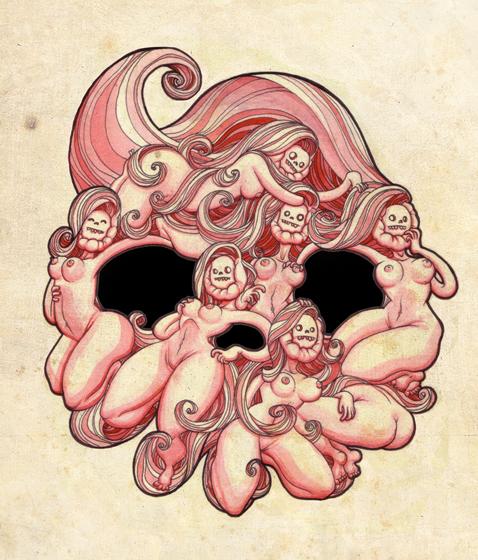 Skull G - 2012 - Ink on Illustration board