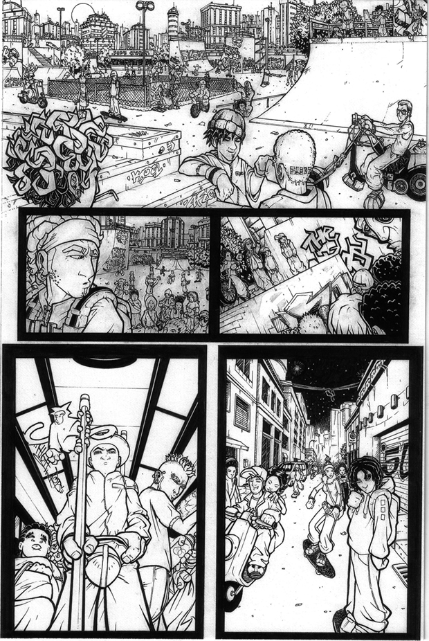 Other 4 lr - Comic book page from 2003