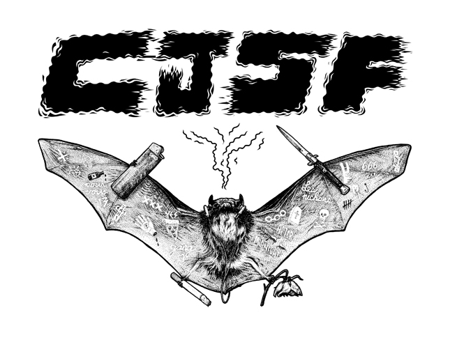 CJSF Bat - Ink on illustration board