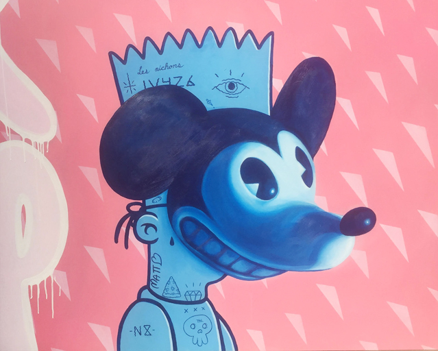 Mike Bandit - 2017 - Acrylic on Wood - 5 Feet x 5 Feet