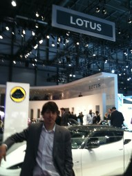 Working at the Paris motor show