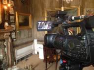 Filming at Brunswick house