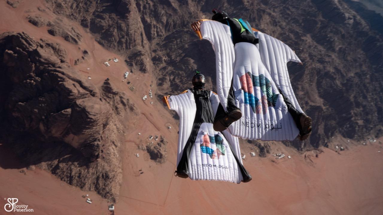 Wingsuitpilots: Peter Salzmann, Johannes Zangerl Picture by Scott Paterson
