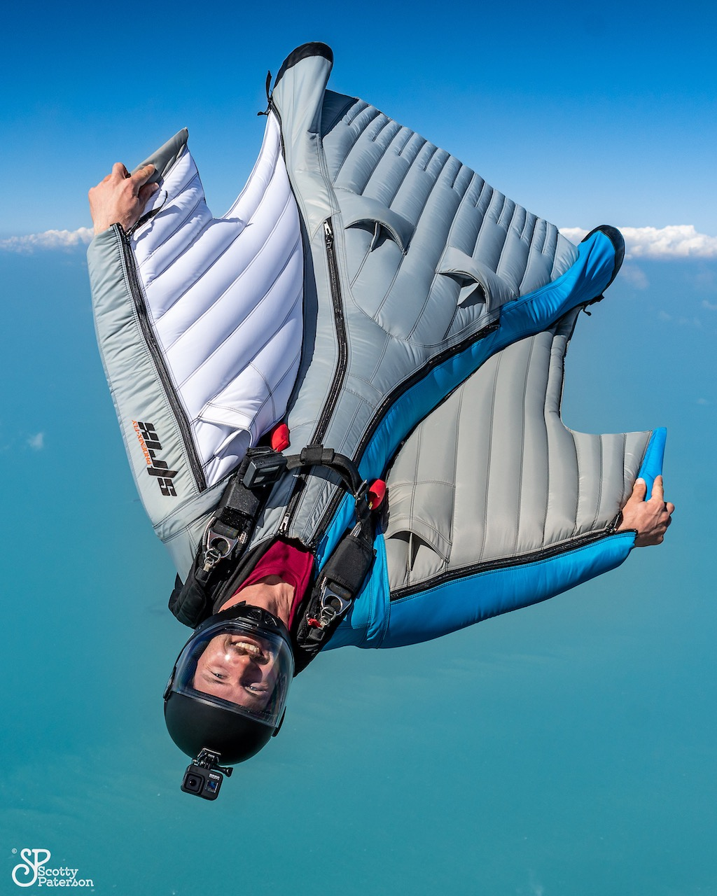 Peter Salzmann Wingsuitpilot, Picture by Scott Paterson