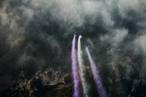 Wingsuitpilot Peter Salzmann and his crew, Picture Ray Demski