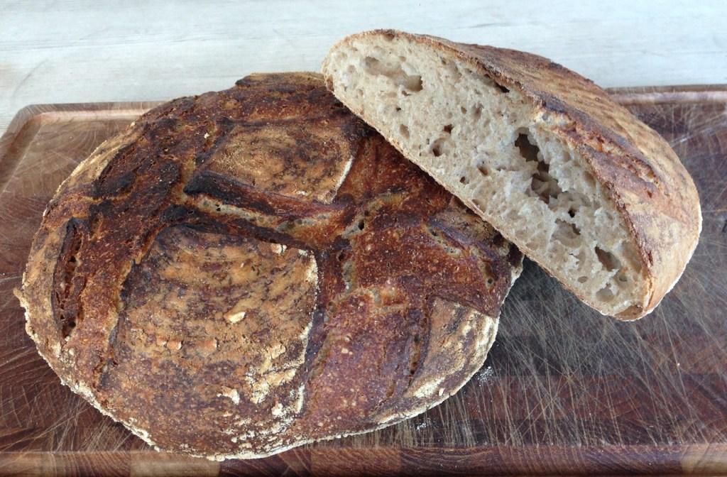 whole wheat and rye sourdough