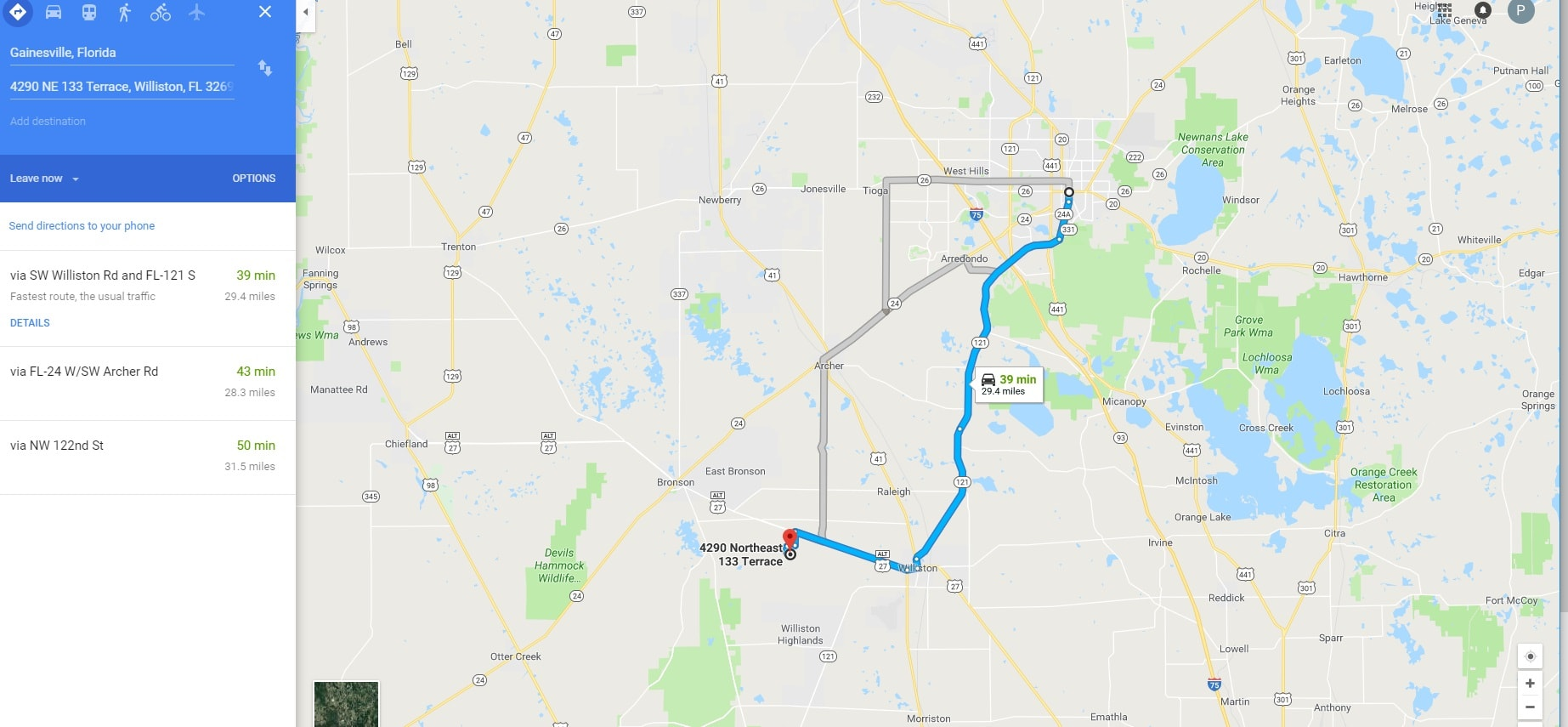 Williston Florida Map.Williston Levy County North Central Fl Land For Sale 2 26 Acres
