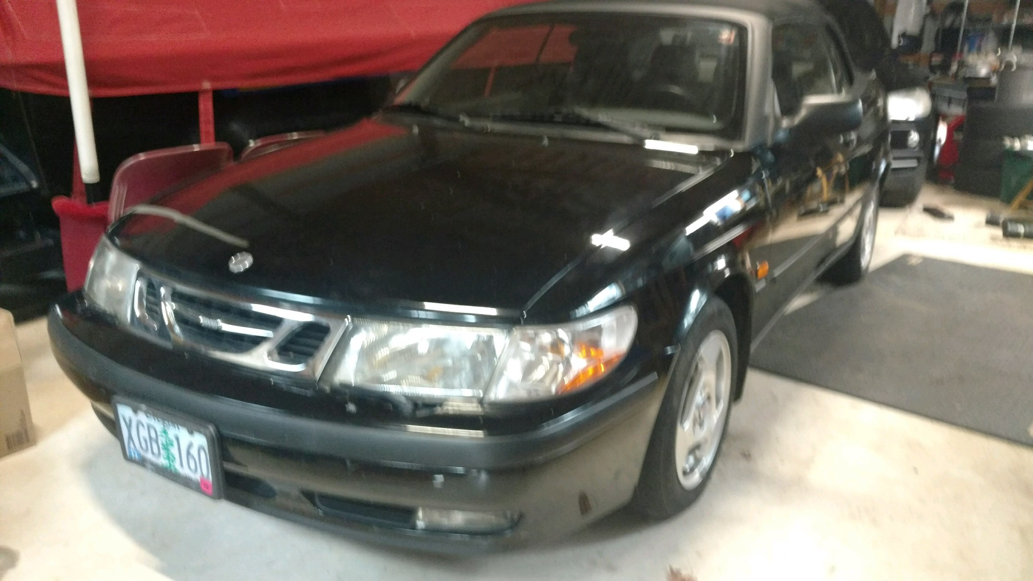 1999 Saab Convertible Black