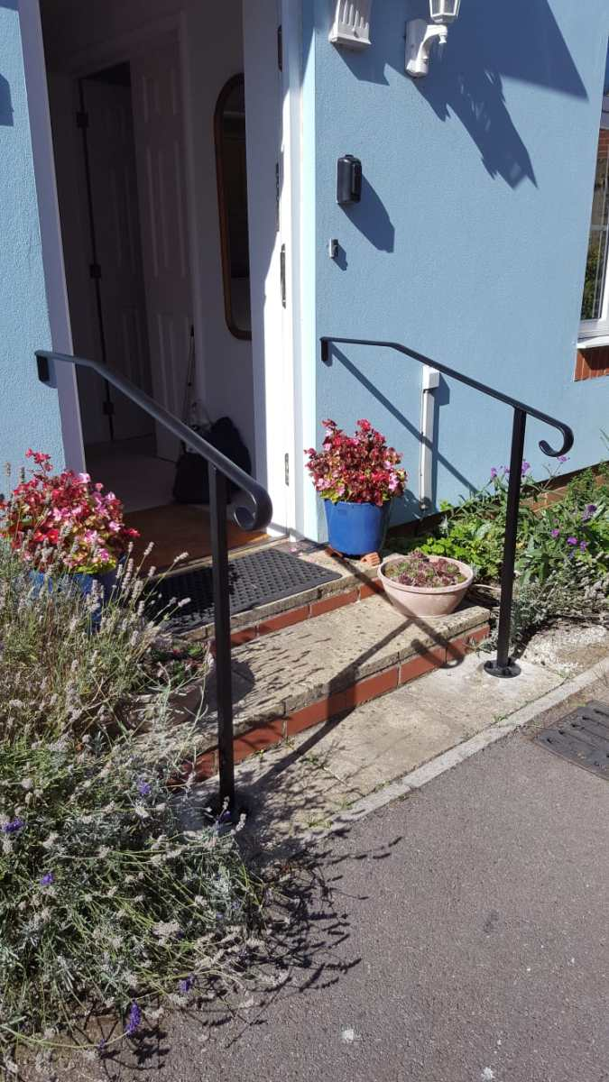 Hand rail for back door steps