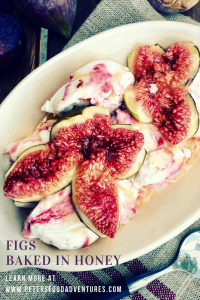 Baked Figs with Honey is a delicious and easy fresh fig dessert, served warm over vanilla ice cream or frozen Greek yogurt, that is sure to impress. My favorite fig recipe!