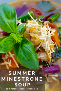 The perfect summer minestrone soup, with fresh basil and parmesan - inspired by Jamie Oliver's Food Escapes in Venice. I usually hate Minestrone, but this recipe is so delicious! Minestrone Soup from Jamie Oliver's Venice Food Escapes