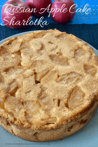 This is the best Russian Apple Cake recipe. It's light, fluffy, moist and delicious. Not an apple pie, but a cake sprinkled with cinnamon sugar - Rita's Apple Sharlotka Cake (Шарлотка)