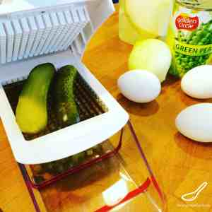 Preparing Olivier Salad