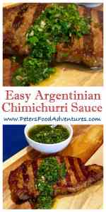 Chimichurri recipe peters food adventures this traditional argentinian chimichurri recipe uses simple ingredients like fresh parsley fresh oregano and garlic forumfinder Choice Image