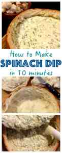 Classic Spinach Dip that everyone loves! Easy to make and full of flavour, a crowd pleaser at your next bbq or potluck.