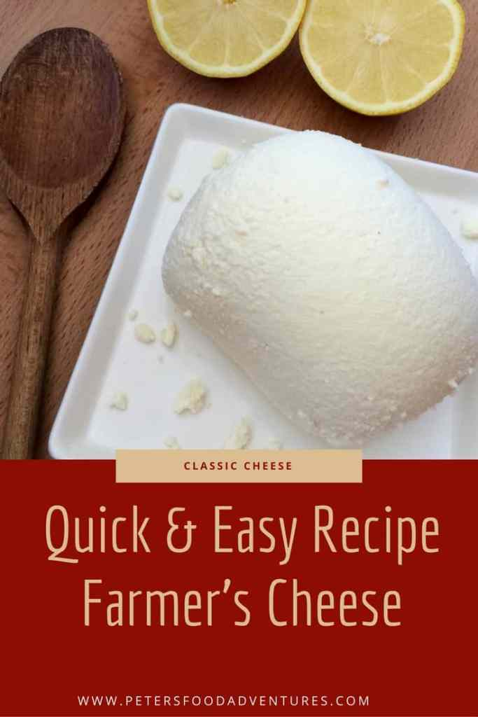 This recipe is such a time saver when making Tvorog, Farmers Cheese, Quark, White Cheese, Gvina Levana, using lemon juice or vinegar - Easy Tvorog or Farmers Cheese (творог)