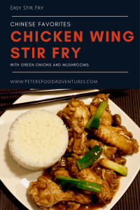 Easy Asian Stir Fry Served with Rice, Tasty Authentic Flavours, Finger Licking Good! - Chinese Chicken Wing Stir Fry Recipe