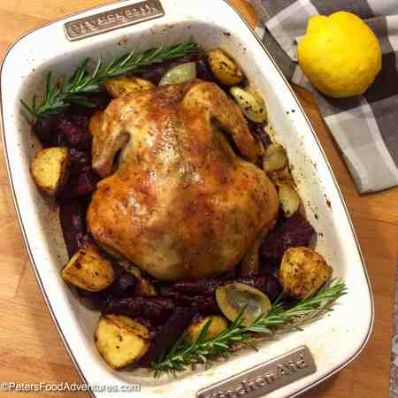 The Secret Juicy Roast Chicken Recipe with Lemon and Rosemary