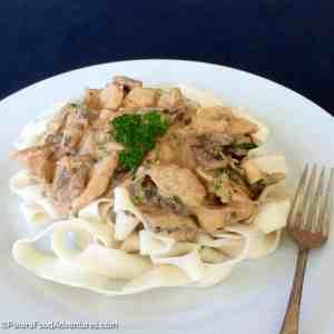 Rita's Chicken Stroganoff Recipe (Бефстроганов из курицы)