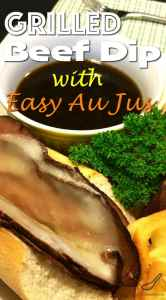 Grilled Beef Dip with Easy Au Jus Recipe