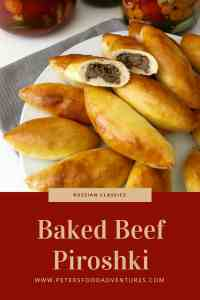 Baked Not Fried! A Classic Russian Meat Pie Stuffed with Ground Beef. Baked Beef Piroshki (Пирожки в духовке с мясом)