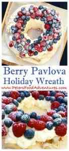 Pavlova Holiday Wreath