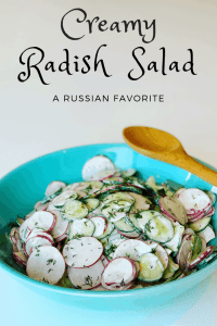 Creamy Radish and Cucumber Salad in a bowl