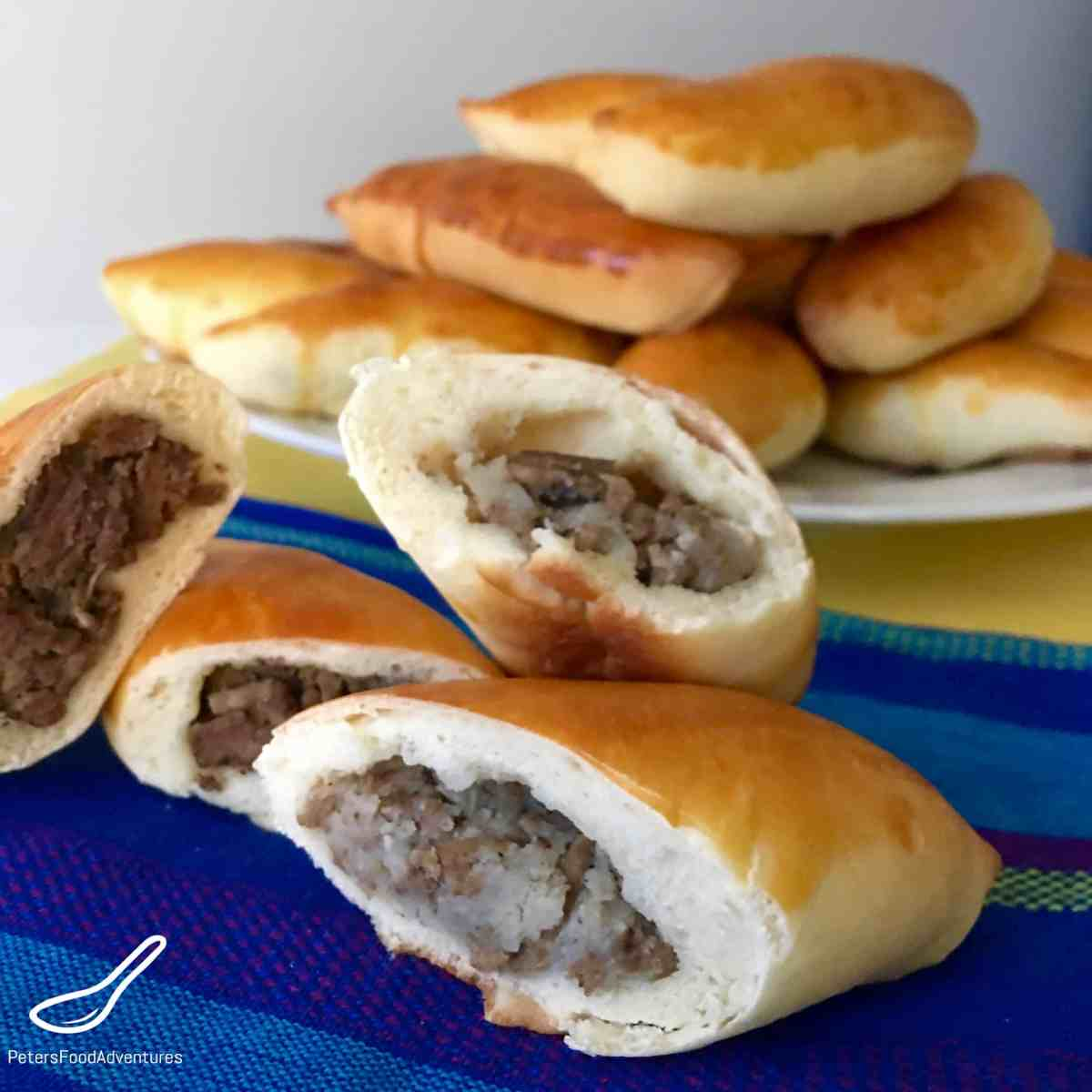Baked Potato & Beef Piroshki (Пирожки)