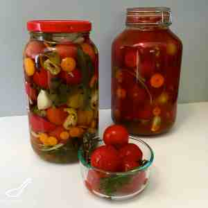 Canned Pickled Russian Tomatoes (солёные помидоры)