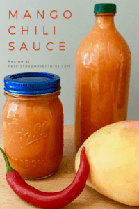 I love this mango sauce! A sweet Mango Chili Sauce recipe is awesome as a dip for chicken strips, shrimp, Vietnamese or Thai rolls, add to a stir fry or a salad dressing.