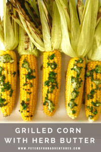 Just in time for summer entertaining. BBQ Grilled Corn on the Cob with fresh herb butter. Easy to make and full of flavour!