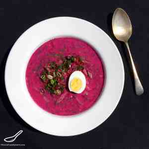 Think Gazpacho - only Russian, and Pink! Full of Probiotics. A Delicious Summer Soup Served Cold, Made From Beets and Kefir - Holodnik Soup (холодник из свеклы)