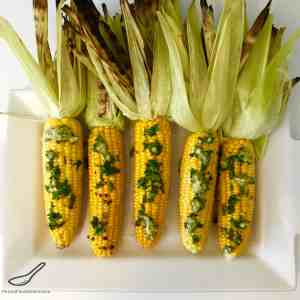 BBQ Grilled Corn with Fresh Herb Butter