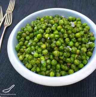 Butter Fried Green Peas (Жареный горох)