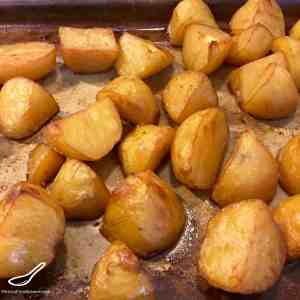 Chinese Crispy Roast Potatoes in a Master Stock Baking