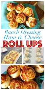 Delicious with a Ranch Dressing Twist - No Knead, Real Yeast Dough, Bread Maker Recipe Save Time Not Flavour. Baked With Ranch Dressing Ham and Cheese Rolls