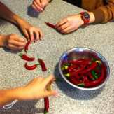 Quick Pickled Chillies preparation