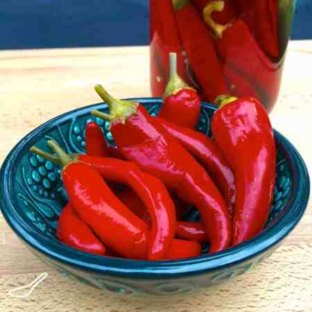 Quick Pickled Chilli Peppers