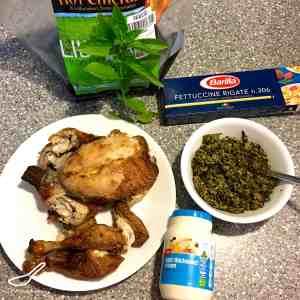 Easy Creamy Basil Pesto Chicken Recipe ingredients