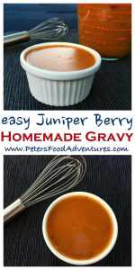Want to try something new? So easy to make, and healthier without the drippings. Perfect with gamier meats at Thanksgivings, Christmas or just with dinner! Juniper Berry Gravy without Drippings