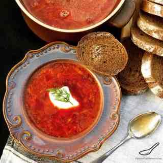Russian Beet Borscht (Красный борщ)