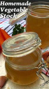 A healthier way to eat soup, full of flavour, you won't even realize it's a vegetarian stock. It's actually easier to make than regular soup broth! Vegetable Broth Recipe