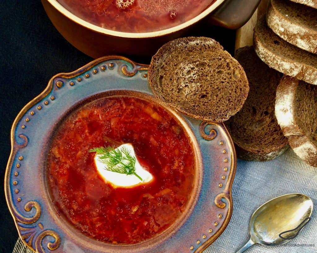 The most delicious Ukrainian borscht with cabbage. These classic recipes 48